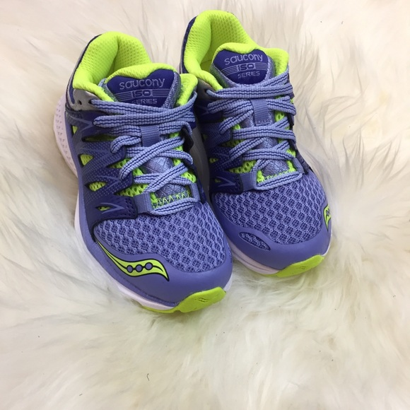 b07584860f Kids Saucony Tennis Shoes! Purple & Green Sz 10.5